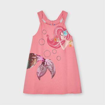 Girls Mayoral Dress 3955 Flamingo