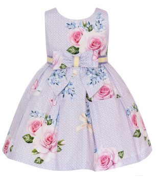Girls Balloon Chic Lilac Floral Dress