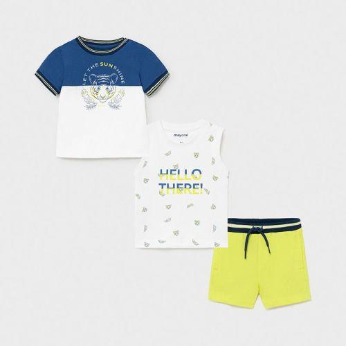 Boys Mayoral 3 Piece Shorts Set 1668 Lime