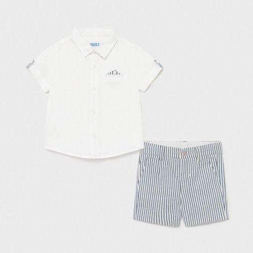 Boys Mayoral Shirt and Shorts Set 1252 Nautical