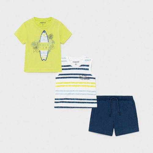 Boys Mayoral 3 Piece Shorts Set 1672 Lime