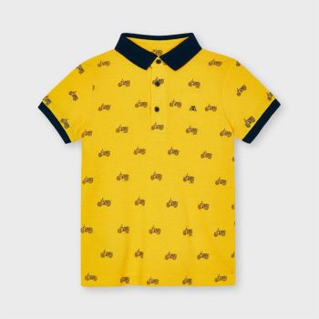 Boys Mayoral Polo Shirt 3106 Yellow