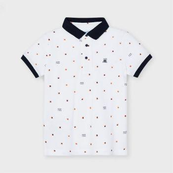 Boys Mayoral Polo Shirt 3106 White