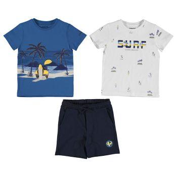 Boys Mayoral T Shirt and Shorts Set 3641 Waves (2 T Shirts)
