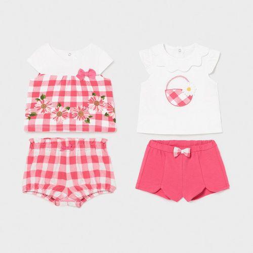 Girls Mayoral 4 Piece Set 1648 Pink