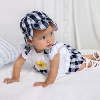 Girls Mayoral Top and Skirt Set 1839 Navy 63