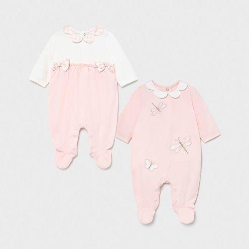 Girls Mayoral Babygrow 1605 - 2 Pack Pink