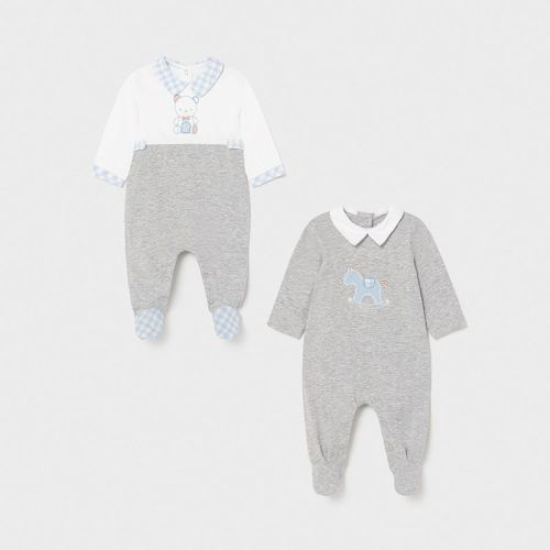 Boys Mayoral Babygrows 2 Pack 1626 Silver