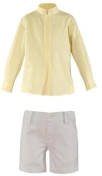 Boys Miranda Lemon and White Short Set 243