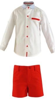 Boys Miranda Red, White and Blue Short Set 288