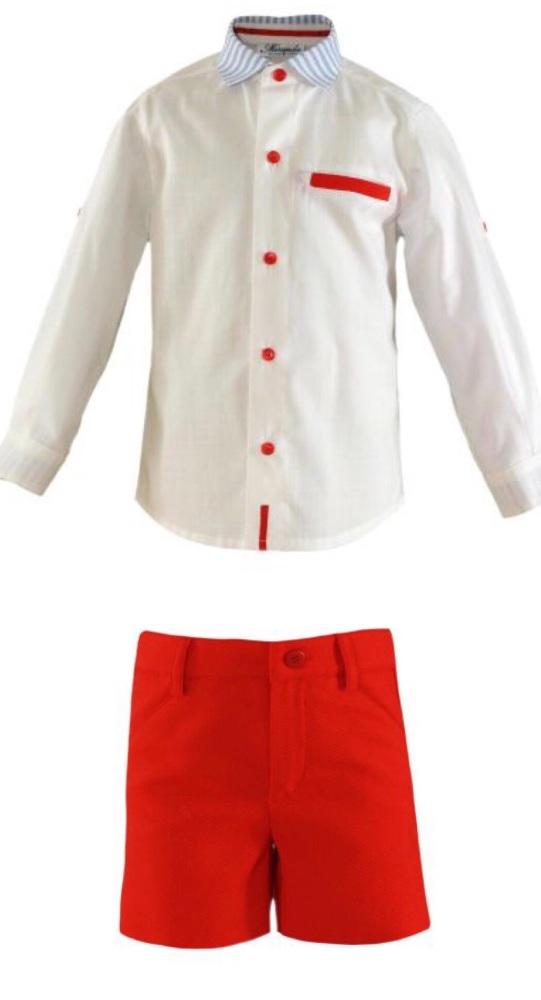 PRE ORDER SS21 Boys Miranda Red, White and Blue Short Set 288