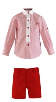 Boys Miranda Red and White Short Set 253
