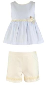 Girls Miranda Blue and Cream Shorts Set 345 *Available upto 16 years