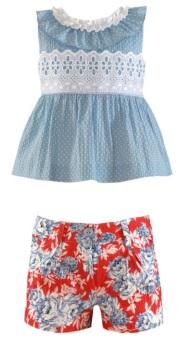 Girls Miranda Red and Blue Shorts Set 256