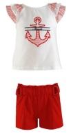 Girls Miranda Red and White Short Set 259(252C/2593)