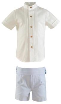 Boys Miranda Blue and White Short Set 245