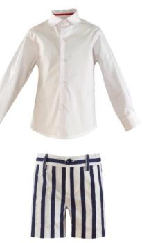 Boys Miranda Blue and White Short Set 260