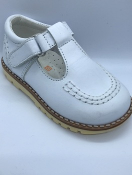 Boys Andanines White Leather Shoes 161297