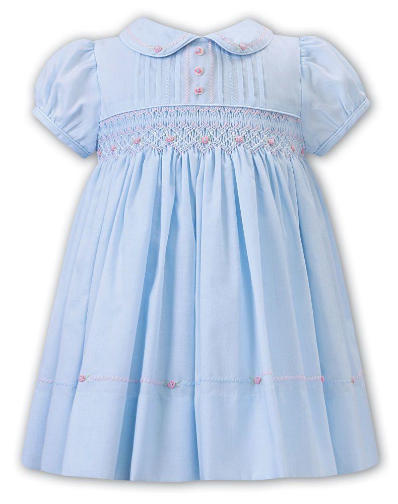Girls Sarah Louise Dress 012255 Blue - PRE ORDER