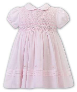 Girls Sarah Louise Dress 012273 Pink and White