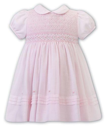 Girls Sarah Louise Dress 012273 Pink and White - PRE ORDER