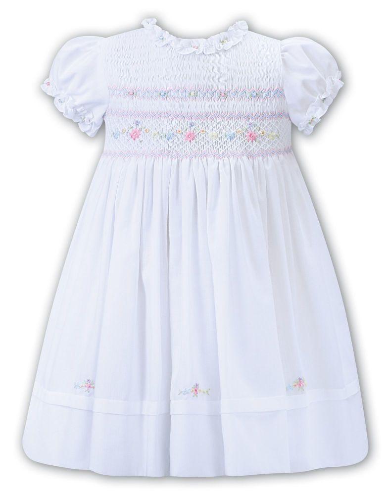 Girls Sarah Louise Dress 012274 White - PRE ORDER
