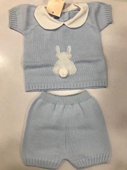 Boys Aurea Knitted Set 716055 Blue