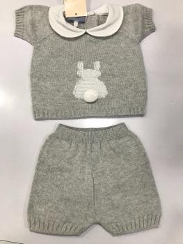 Boys Aurea Knitted Set 716055 Grey