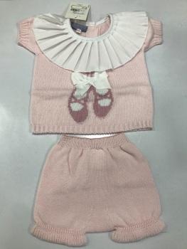 Girls Aurea Knitted Set 716060 Pink