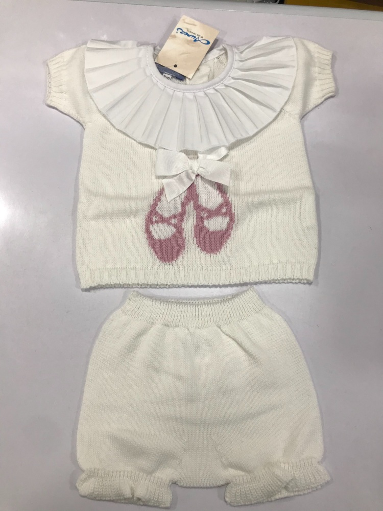 Girls Aurea Knitted Set 716060 Cream