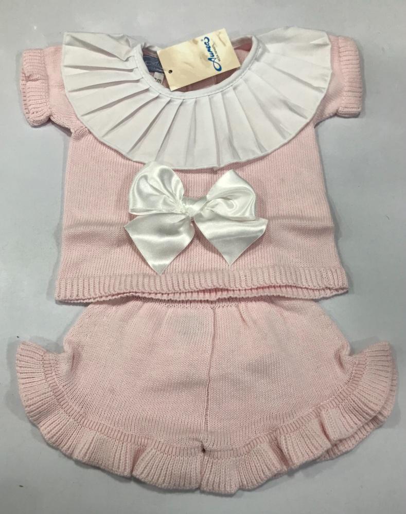 Girls Aurea Knitted Set 716025 Pink