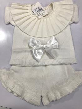 Girls Aurea Knitted Set 716025 Cream