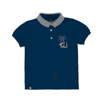 Boys Mayoral Polo Shirt 3102 Navy