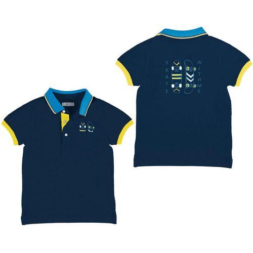 Boys Mayoral Polo Shirt 3107 Navy