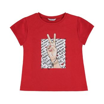 Girls Mayoral T Shirt 6020 Red