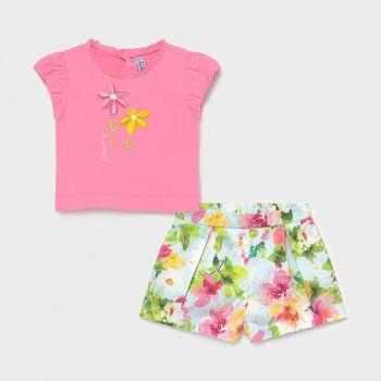 Girls Mayoral Shorts Set 1234 Pistachio