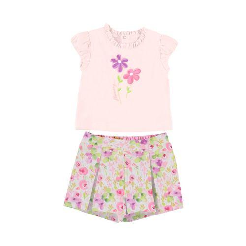 Girls Mayoral Shorts Set 1234 Rose