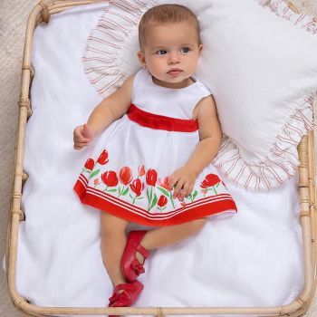 Girls Mayoral Dress and Pants 1830 Red