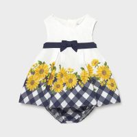 Girls Mayoral Dress and Pants 1830 Navy