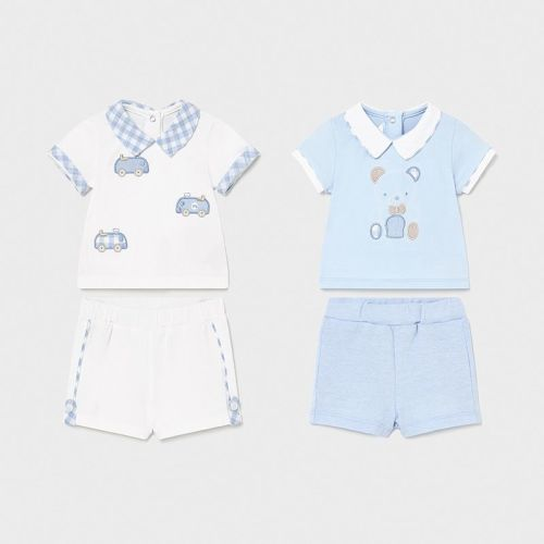 Boys Mayoral Top and Shorts Double Pack 1642 Sky 28