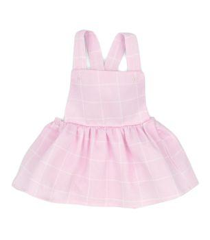 Girls Rapife Dungaree Dress 4323S21 Pink