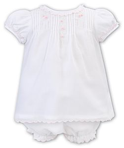 Girls Sarah Louise Dress and Pants 012215 White and Pink