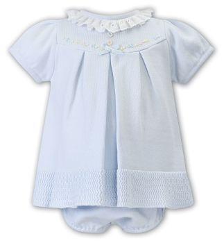 Girls Sarah Louise Dress and Pants 008050 Blue