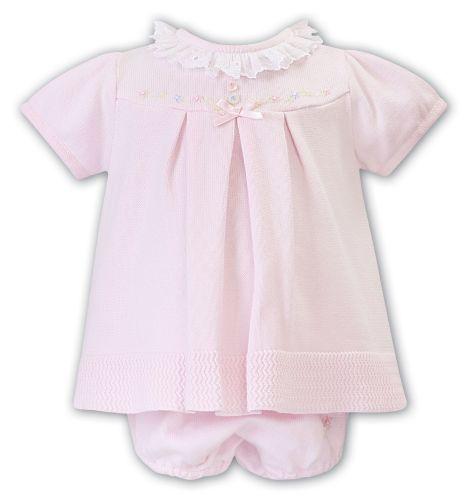 Girls Sarah Louise Dress and Pants 008050 Pink