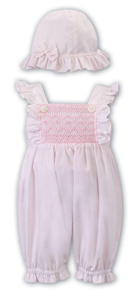 Girls Sarah Louise Romper and Hat 012287