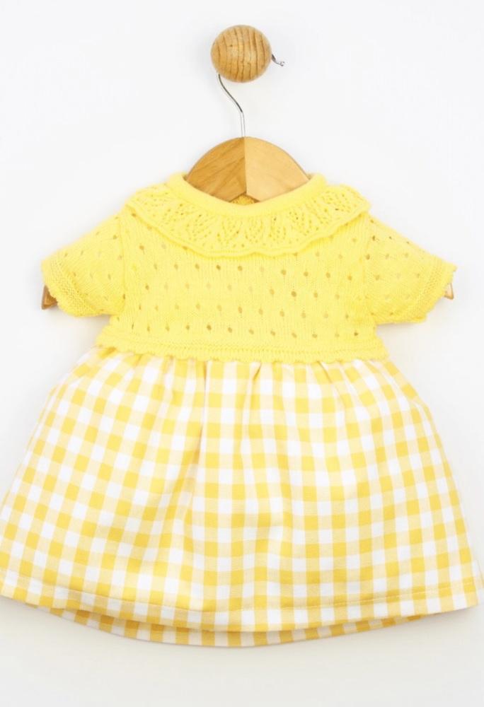 Girls Popys Yellow and White Dress 24348