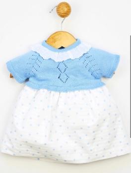 Girls Popys Blue and White Dress 24354