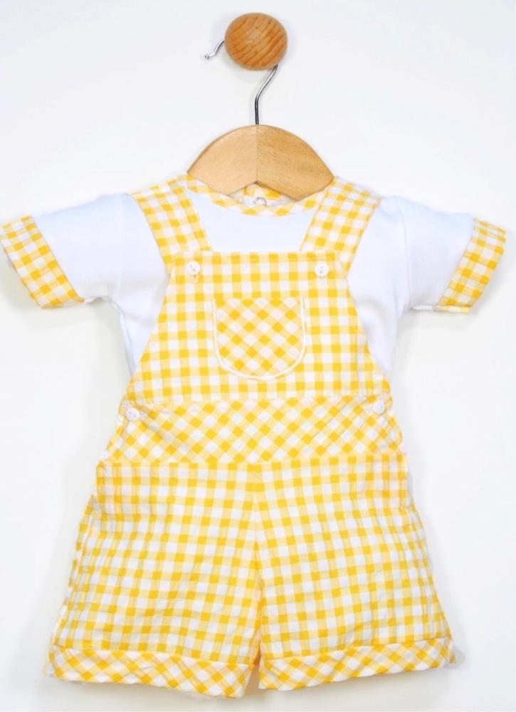 Boys Popys Yellow and White Set 24439