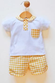 Boys Popys Yellow and White Set 24440