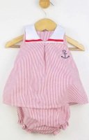 Girls Popys Red and White Dress and Pants 24441